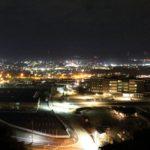 【掛川市】陣場峠(青田山砦)から夜景を見よう!掛川城もはっきり見えます